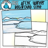 FREE Arctic Winter Background Scene - Chirp Graphics