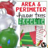 FREE Area and Perimeter Holiday Trees Craft Grades 4-6 Chr