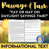 """Argumentative Opinion Passage & ELA Tasks  """"Yay or Nay on"""