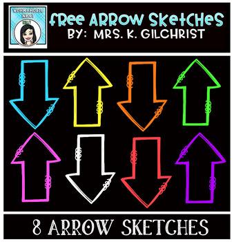 (FREE) Arrow Sketches Clip Art