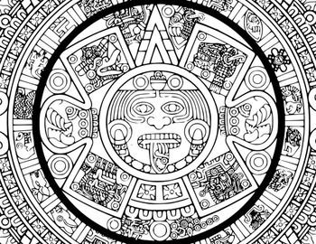 FREE Art: Aztec Color Sheet (Gr. 2-6)