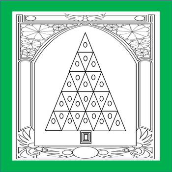 FREE Art Deco Arch Christmas Tree Coloring page Forever Giving Tuesday