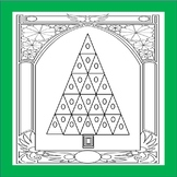 FREE Art Deco Arch Christmas Tree Coloring page Forever Gi