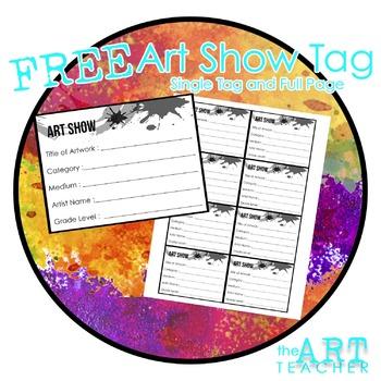 FREE - Art Show Tag