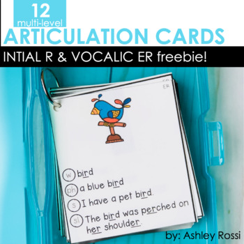 FREE Articulation Cards: R by Ashley Rossi