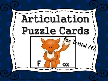 Articulation Puzzle Cards for Initial /f/ FREE