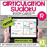 FREE Articulation Sudoku Prevocalic /r/ BOOM CARD™ Deck -