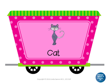 FREE Articulation Train - CVC Words and Final Consonants, No Print - Telepractic