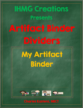 FREE Artifact Binder Dividers--Student Work Organization Tool