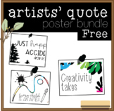 FREE Artists' Quote Poster Bundle
