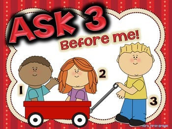 """FREE """"Ask 3 Before Me!"""" Poster"""