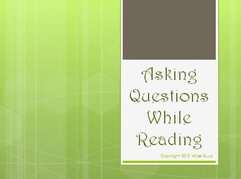 Asking Questions While Reading Strategy