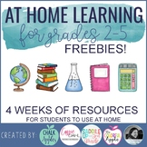 FREE At Home Learning for 2nd - 5th Grade