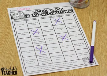 FREE At Home Reading Challenge for Distance Learning