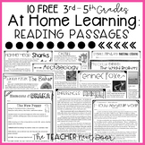 FREE At Home Reading Passages for 3rd - 5th Grade | Distan