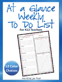 FREE At a Glance Weekly To Do List