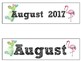 FREE August Calendar Set-Flamingo and Cactus Themed