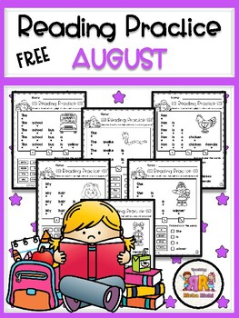 FREE August Reading Practice