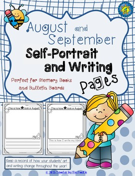 FREE August and September Self-Portrait and Writing Pages