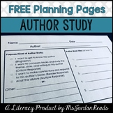 FREE Author Study Planning Pages