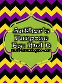 FREE Author's Purpose Lesson