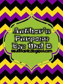 FREE Author's Purpose Lesson