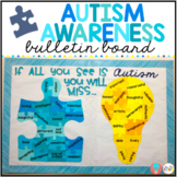 FREE Autism Awareness Bulletin Board Display