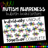 FREE Autism Awareness Bulletin Board Letters
