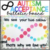 FREE Autism Awareness Rainbow Infinity Bulletin Board Display