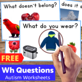 FREE Autism Worksheets Bundle Sample for Special Ed and Speech Therapy