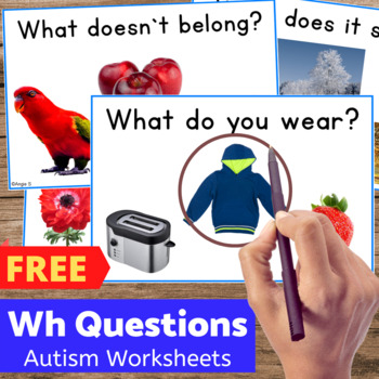 FREE Autism Worksheets Bundle Sample for Special Ed and Sp