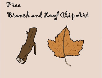 FREE Autumn Branch and Leaf Clip Art