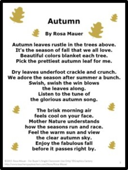 FREE Autumn Poem and Writing Prompt