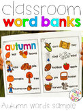 FREE Autumn Word Bank and Folder Sample