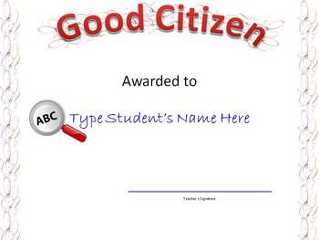 FREE Award Certificates 2007 PowerPoint -Change Names