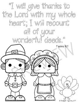 FREE B/W Bible Verse Thanksgiving Craftivity - Psalms 9:1 (A Thankful Heart)