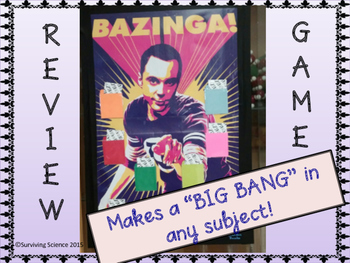 FREE BAZINGA! Review Game for Any Subject