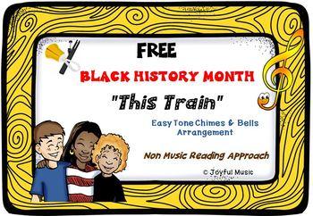 **FREE ** BLACK HISTORY MONTH SPIRITUAL Easy Tone Chimes &