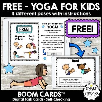 Free Boom Cards Yoga For Kids Sensory Movement Break Self Regulation