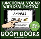 FREE BOOM Card Book: Animals: Real Photo Functional Vocabulary