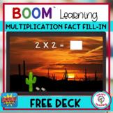 FREE Multiplication Fact BOOM Cards Desert Scenes Self Correcting