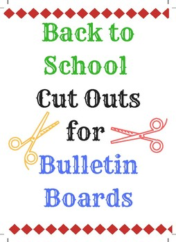 FREE BULLETIN BOARDS CUT OUTS