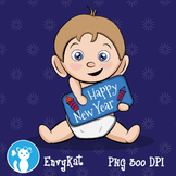 FREE Baby New Year Digital Clipart