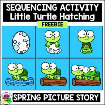 FREE  Baby Turtle Sequencing Activity Speech Therapy