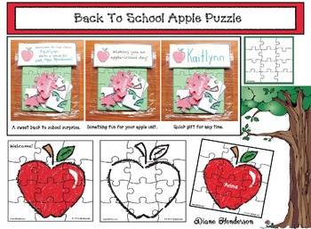 FREE Back To School Apple Puzzle Gift