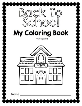 FREE Back To School Coloring Book {Educlips Clipart}