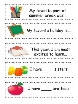 Back To School Get To Know You Conversation Starters