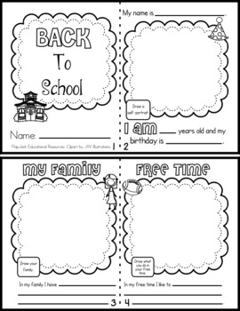 FREE Back To School Mini Book - English and Spanish