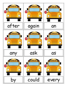 FREE Back To School Sight Word Center (First)