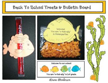 FREE Back To School Treats & Bulletin Board